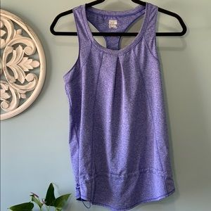 Purple loose fit exercise top
